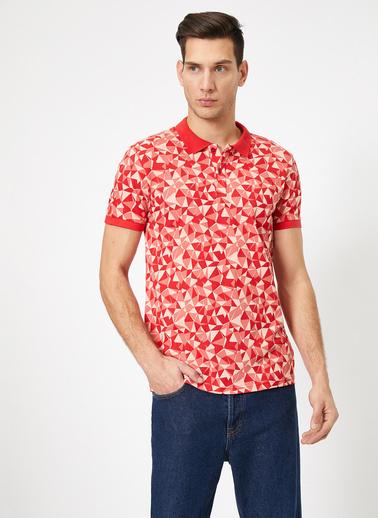 Koton Desenli T-Shirt Kırmızı
